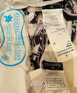 NWT Chanel 06p Bikini 2pc Swim 36 38 40 4 6 8 Dress Top Bottom SwimSuit COVERUP