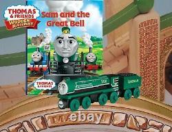 New Thomas Wooden Railway SAM & AND THE GREAT BELL SET VIRGINIA TENDER NIB