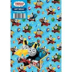 Official THOMAS AND FRIENDS Gift Wrapping Paper Sheets x 2 + Gift Tag x 2