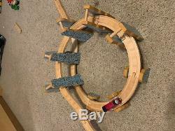 RARE-Thomas Train Wooden Railway Rheneas and The Roller Coaster Set