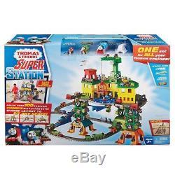 Super Station Track Playset Engine Trackmaster Train Toy Adventure Railways New
