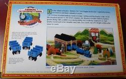 THOMAS THE TANK ENGINE 99081 Ada Jane and Mabel Real Wood 1997 NEW see pics