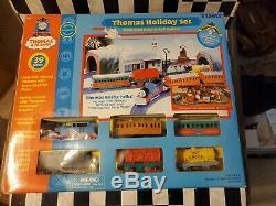 TOMY Thomas Tank Holiday Set Motorized Road&Rail Talk N Action FACTORY SEALED