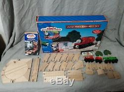 Thoman the Tank Engine Wooden Railway Learning Curve James goes Buzz Buzz Set