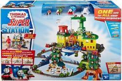 Thomas & Friends FGR22 Super Station, Thomas the Tank Engine Toy Train Set and 3