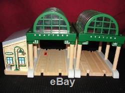 Thomas & Friends Tank Engine Knapford Station Wooden Railway Rare Wood Train Toy