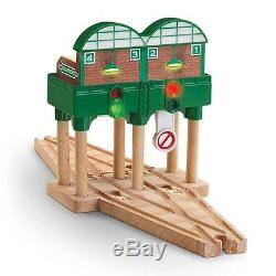 Thomas & Friends Wooden Railway Logan and the Big Blue Engines Set