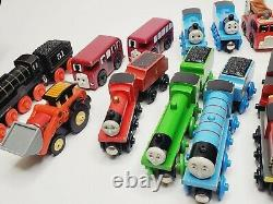 Thomas & Friends Wooden Railway Lot Of 21 Pieces Salty Gordon Hiro James Trains