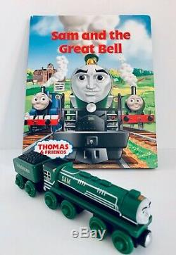 Thomas & Friends Wooden Railway SAM and the Great Bell & Tender, Book Included