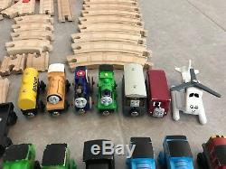 Thomas & Friends Wooden Railway Train Lot 100+ Pieces ENGINES TENDERS TRACKS +