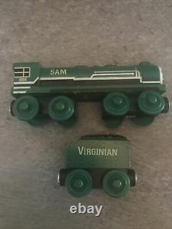 Thomas & Friends Wooden Tank Engine Train SAM & VIRGINIAN TENDER 2012 RARE