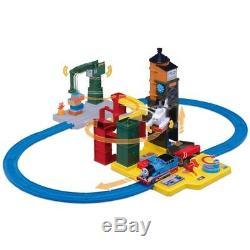 Thomas & Friends the Tank Engine Harold Cranky Owen Tomy Trackmaster Plarail Set