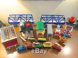 Thomas Huge Lot Trains Track Buildings Bridge Wooden Railway Tank Engine Wood