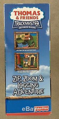 Thomas Tank Engine Trackmaster Zip, Zoom & Logging Adventure Railroad Set NEW