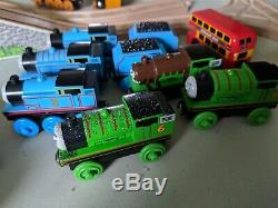 Thomas The Tank Engine 100 pc Wood Toy Train Lot Cranky Crane Sodor Engine Wash
