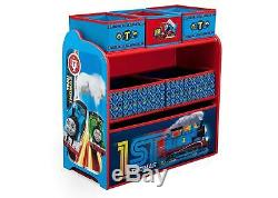 Thomas The Tank Engine Toy Storage Organiser Box Red Blue Kids Bedroom Nursery