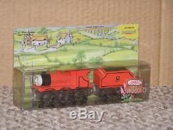 Thomas The Tank Engine Wooden Railway Train James RARE 1992 Flat Magnets