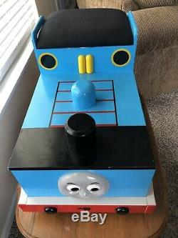 Thomas The Train Tank Engine Large Wooden Bench Storage Bin Toy Chest Kid Sized