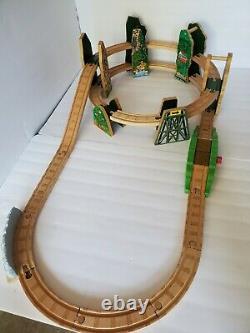 Thomas The Train Wooden Railway Racing Down The Rails Mountain Set NO BOX