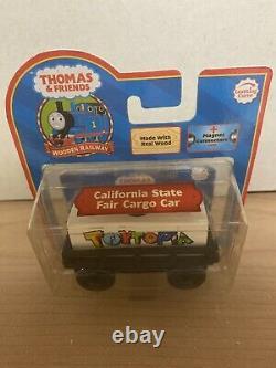Thomas The Wooden Tank Engine Train Califonia State Fair Cargo Car Toytopia New