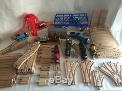 Thomas Wooden Train Lot 87 Pieces James Motorized Engine Clickety Clack Track