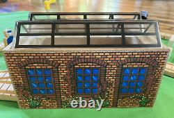 Thomas Wooden Train Set Lot Day at The Works 1997! Shed Mill Boat Bridge Culdee