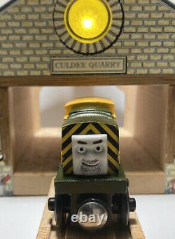 Thomas Wooden Train Set Sodor Storm TREES FALL Culdee Quarry MINT! Iron Bert Lot