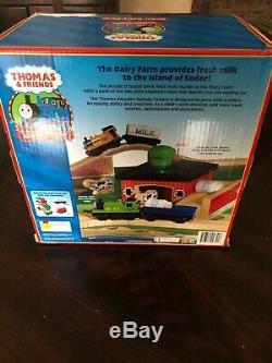 Thomas and friends Rare 2001 SODOR DAIRY FARM New In Box Thomas Wooden Railway