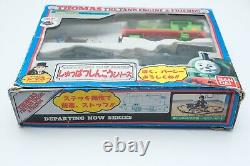 Thomas the Tank Engine Bandai Departing Percy motorizer 1991 Japan in box