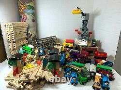 Thomas the Tank Engine Brio wooden train tracks bridge LOT huge collection