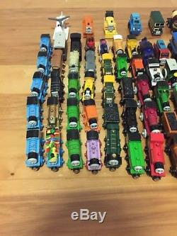 Thomas the Tank Engine & Friends Wooden Railway Train & Car Lot Good Condition