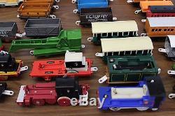 Thomas the Tank Engine Train Lot of 60 Trackmaster Locomotives & Cars Battery