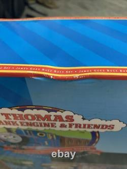 Thomas the Tank Engine Wooden Railway Learning Curve James goes Buzz Buzz Set
