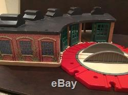 Thomas the Tank Engine Wooden Round House Train Shed and Double Shed