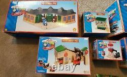 Thomas the Tank & Friends Train Set Lot Wooden Railway Tracks Vehicles Bridges