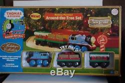 Thomas the Train & Friends Tank Engine Wooden Railway Around the Tree Set NEW