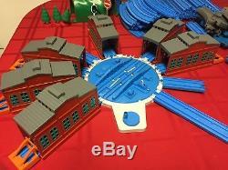Tomy Thomas Lot Blue Track Sodor Quarry Engine Wash Airport Station Turntable