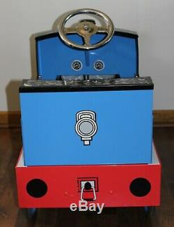 Train Pedal Car THOMAS The Tank Engine by Airflow Metal Full Size Ride On Toy