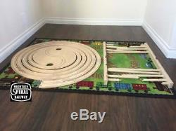 Train Spiral and train track compatible with Thomas, Brio and Ikea sets