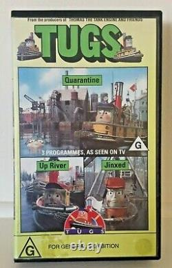 VHS' Tugs' Jinxed From makers of Thomas the Tank Engine Video Tape Pal Rare