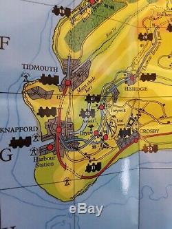 Very Rare Thomas the Tank Engine Railway Island of Sodor Map Rev. W. Awdry 1992