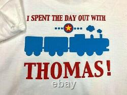 Vintage Thomas The Tank Engine Day Out TV Show Movie Promo Tee Shirt Size Large