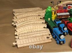Vintage Thomas The Train Wood Magnetic Trains Tracks Bridge Accessories Mix Lot
