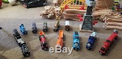 Wooden Brio/elc Thomas the Tank Engine Train Set Bundle 150+ pieces Crane Bridge