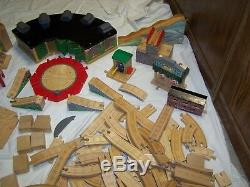 Wooden Thomas The Train Tank Engine Huge Lot over 170 Pieces Track & Accessories