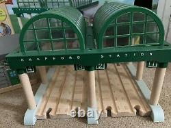 Wooden thomas the tank engine Deluxe knapford station with microphone BOXED